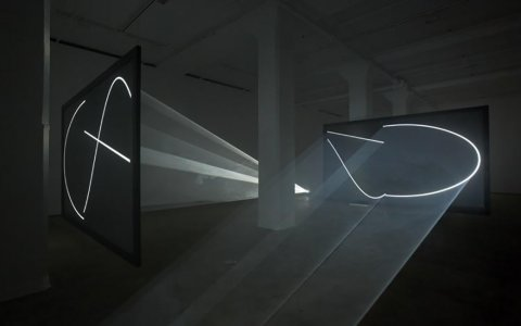 L'obra Face to Face II d'Anthony McCall. FOTO: CEDIDA.
